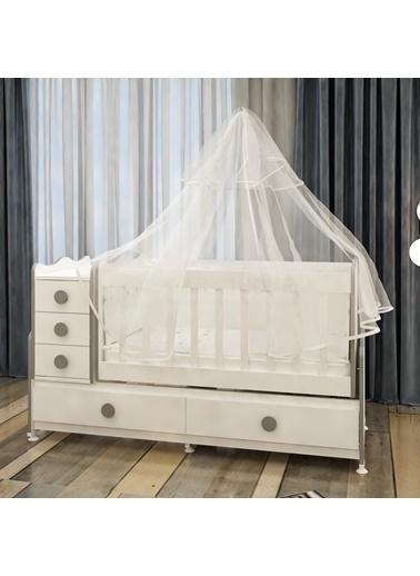 Garaj Home Garaj Home Melina Gri Uyku Setli Beşik Kombini/ Uyku Seti Pembe Pembe